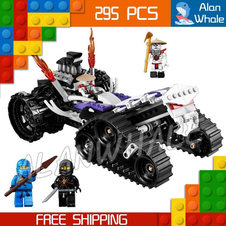 295pcs Bela 9732 New Ninja Turbo Shredder Building Blocks Model Toys Spinjitzu Dojo Compatible With lego 1351pcs bela 06039 ninja samurai x cave chaos building blocks jay lloyd toys compatible with lego