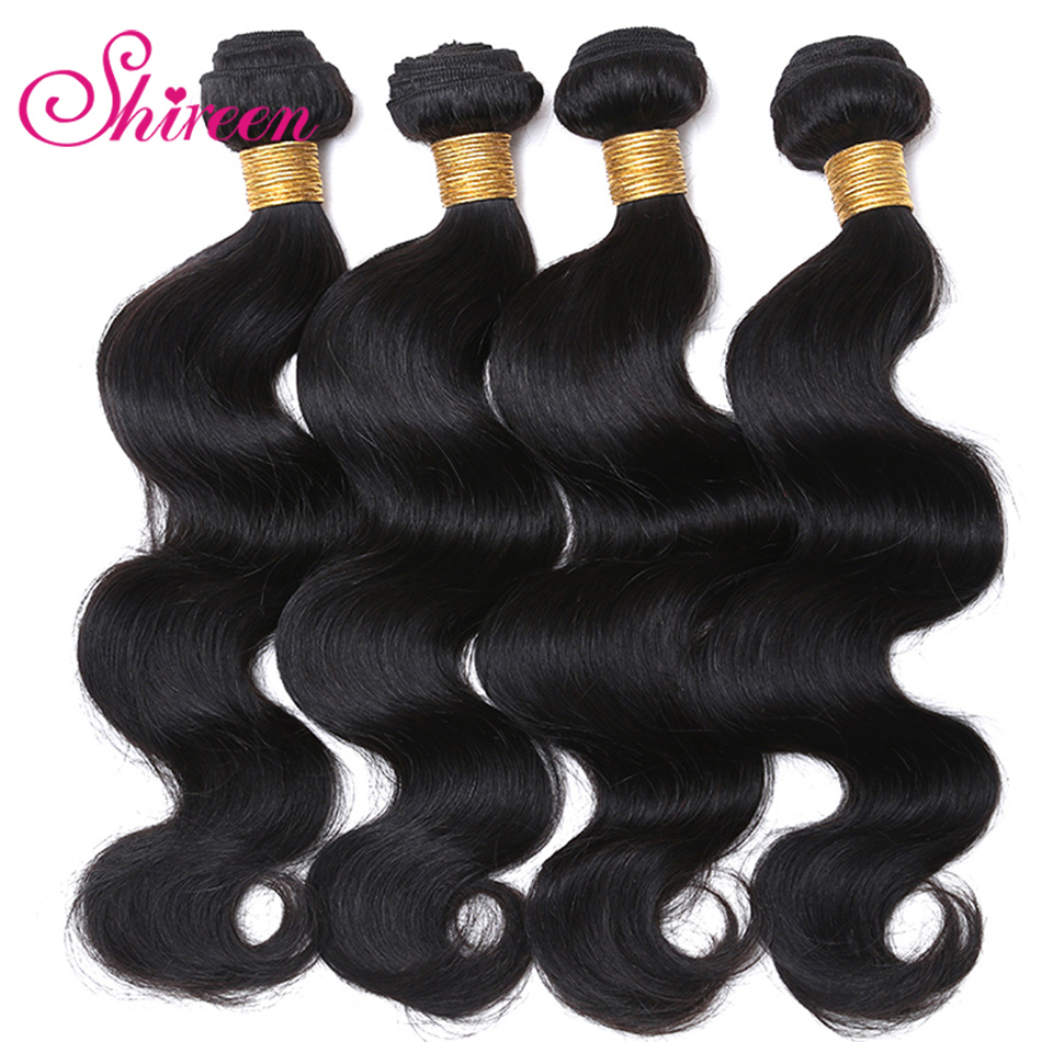 Brazilian Human Hair Bodywaves 8-30inch Natural Black Color Hair 4Bundles Deal Shireen Non Remy Hair Extensions Tissage Humain