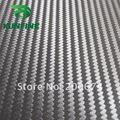 Fedex Livre shippng! ar Livre Bubbles1.52 * 30 M/Roll cor preta 3D Fibra de Carbono Vinyl Etiqueta Do Carro película do envoltório do carro de espessura: 0.14mm