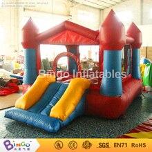 Бесплатная Доставка ПВХ материал надувные вышибалы ребенка горячая продажа 3.75X2.6X2.1 Метров небольшой мини надувные замки для открытый игрушки