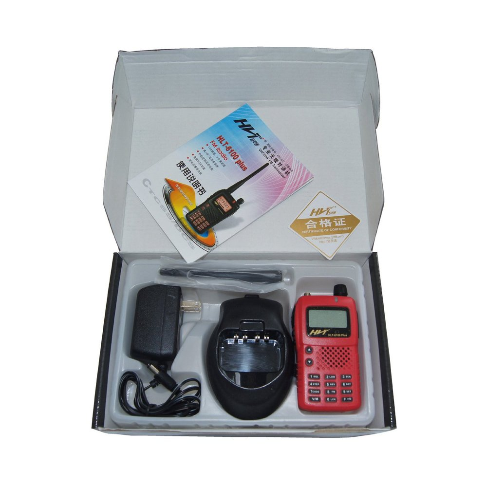 mini up to 15KM walkie talkie inpterphone handfree two way  radio HLT-6100 <5w+FM radio+199channels>