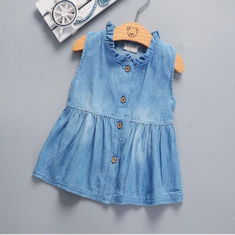 Korte Feestjurken.Peuter Baby Kinderen Meisjes Baby Mouwloze Prinses Jurk Denim Tutu