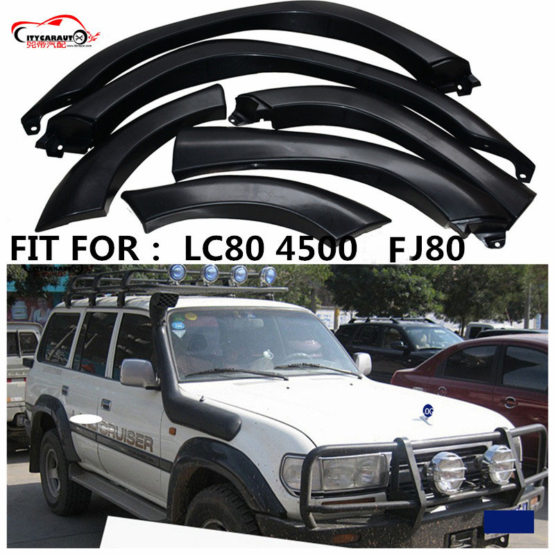 CITYCARAUTO CAR STYLING MOULDING EYEBROW FENDER FLARE  WILDTRAK ACCESSORIES MUDGUARDS FIT FOR land cruiser LC80 4500 FJ80 93-97CITYCARAUTO CAR STYLING MOULDING EYEBROW FENDER FLARE  WILDTRAK ACCESSORIES MUDGUARDS FIT FOR land cruiser LC80 4500 FJ80 93-97