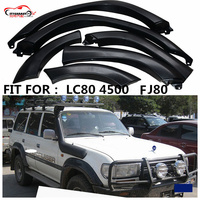 CITYCARAUTO CAR STYLING MOULDING EYEBROW FENDER FLARE WILDTRAK ACCESSORIES MUDGUARDS FIT FOR land cruiser LC80 4500 FJ80 93 97