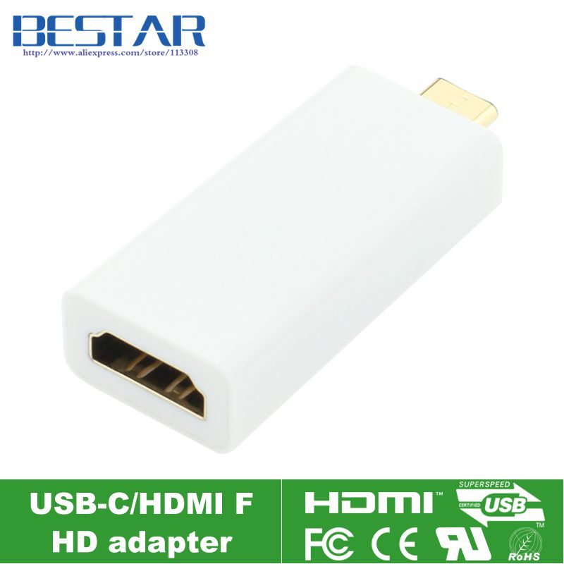 4K*2K USB-C USB 3.1 Type C Male to HDMI Female Adapter Connector Type-c Converter 2 pieces lot usb 3 0 type a female to type b male plug connector adapter usb3 0 converter adaptor af to bm