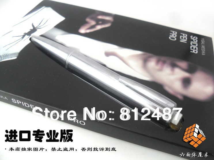 High Quality Spider Pen Pro / close-up street professional magic trick product / wholesale / free shipping marumi mc close up 1 55mm