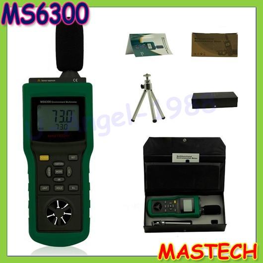 MASTECH MS6300 Digital Multifunction Environment Meter Temperature Humidity Sound Air Flow Meter luminometer Anemometer  цены