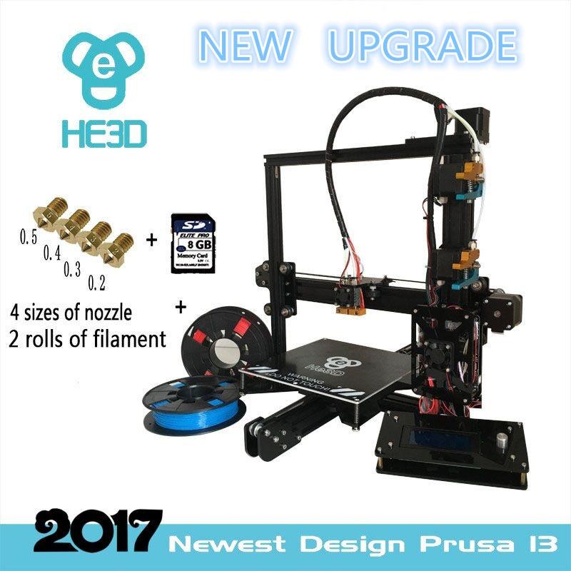 New upgrade 24 V power auto level prusa i3 HE3D EI3 dual flex aluminium extruder DIY