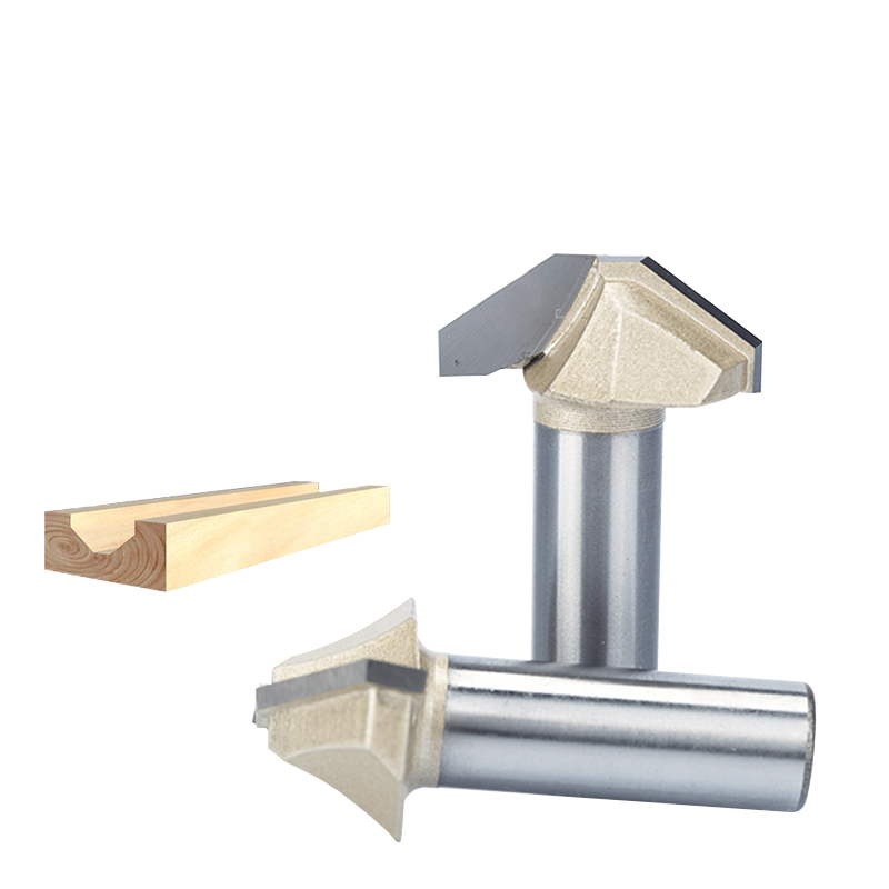 "HUHAO 1pc 1/2"" Shank Router Bits For Wood  CNC Engraving Cutter Woodworking Tool Router Carbide Tipped Grooving Tool Fresa