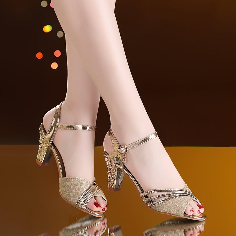HTB1mjlNaSSD3KVjSZFKq6z10VXa2 Women Sandals 2019 Summer Shoes Woman Dress Shoes Bling Weddging Shoes Silver High Heels Pumps Ladies Shoes zapatos mujer 7217