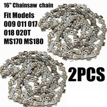"2Pcs/set 16 Inch 3/8"" Chainsaw Saw Chain Blade Wood Carving Saw Replacement Part"