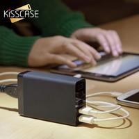 KISSCASE Evrensel Akıllı Şarj 5 USB Portu ABD AB İNGILTERE AU fiş AC Güç Adaptörü Soket Şarj iphone Samsung Hızlı Şarj AB