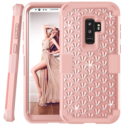 Heavy Duty Hybrid Case For Samsung Galaxy S9 S9Plus Shockproof Armor Rugged Case Cover Hard PC + Soft Rubber Silicone Phone Case (33)