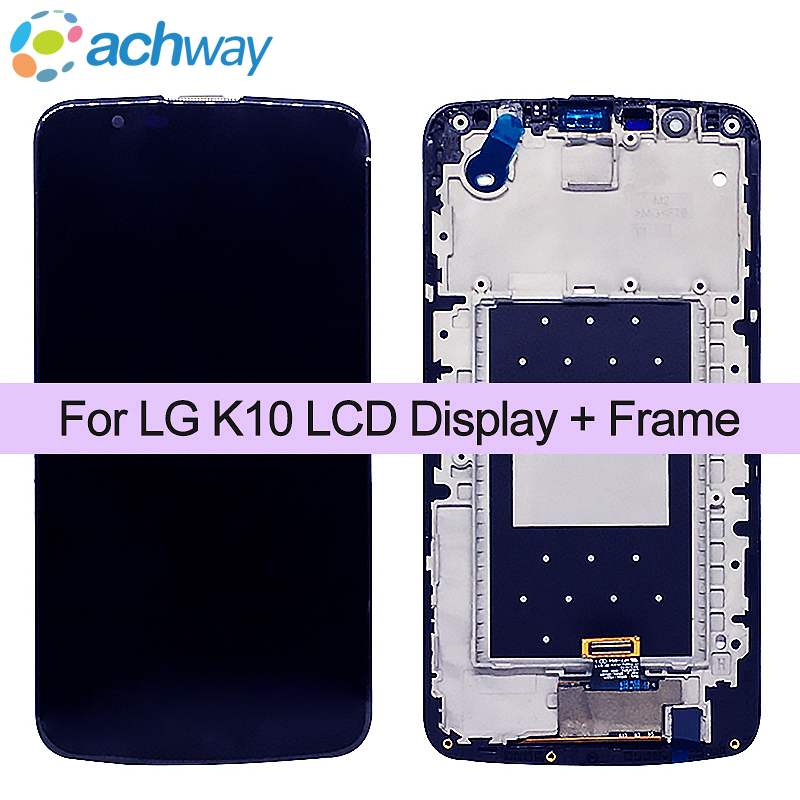 Black For LG K Series LTE K10 LCD Display+Frame+tool K410 K428 Touch Screen Glass Panel+Touch screen Digitizer Full Assembly