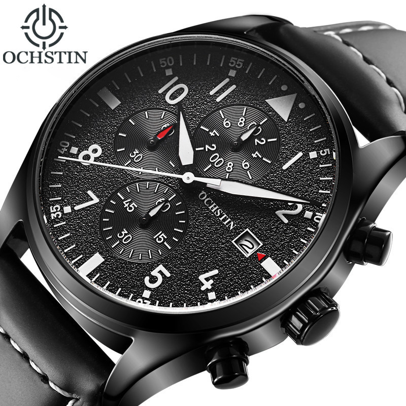 2018 Hot Men Watch Relogio Masculino OCHSTIN Watch Chronograph Top Brand Luxury Sport Watches Men Clock Quartz Wristwatch Male 2018 fashion business notebook business loose leaf notebook a5 notebook with calculator multi functional loose leaf