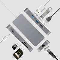 USB C Type C To HDMI Adapter thunderbolt 3 RJ45 Adapter USB 3.0 HUB for MacBook Samsung S8/S9 Huawei P20 Pro usb c adapter