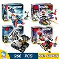 4 unids/lote sy749 hall de armor batman superman ladrillos de construcción de bloques de juguete de aprendizaje compatible con lego