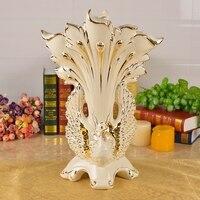 Павлин ваза высокого качества большая организация цветы керамика Цзиндэчжэнь сухой цветок ваза предметы мебели гостиная