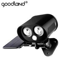 Goodland LED Solar Light Outdoor Owl Solar Lamp Waterproof PIR Montion Sensor Solar Powered Spotlight for Garden Garage Decor