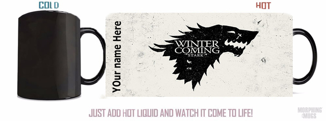 Game Of Thrones Mugs Stark Mug Heat Changing Color Coffee Mugs Magic Tea  Mugen Home Kitchen