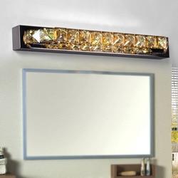 Nowoczesna kryształowa oprawa ścienna w światło led do lustra łazienkowego kinkiety oświetlenie lampy lustro przednie światła do łazienki w Wewnętrzne kinkiety LED od Lampy i oświetlenie na
