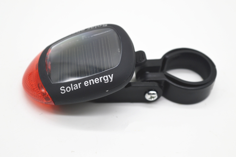 cheap shipping Solar mountain bike road bicycle taillight night ride cycling safety warning flash lamp cycling equipment image