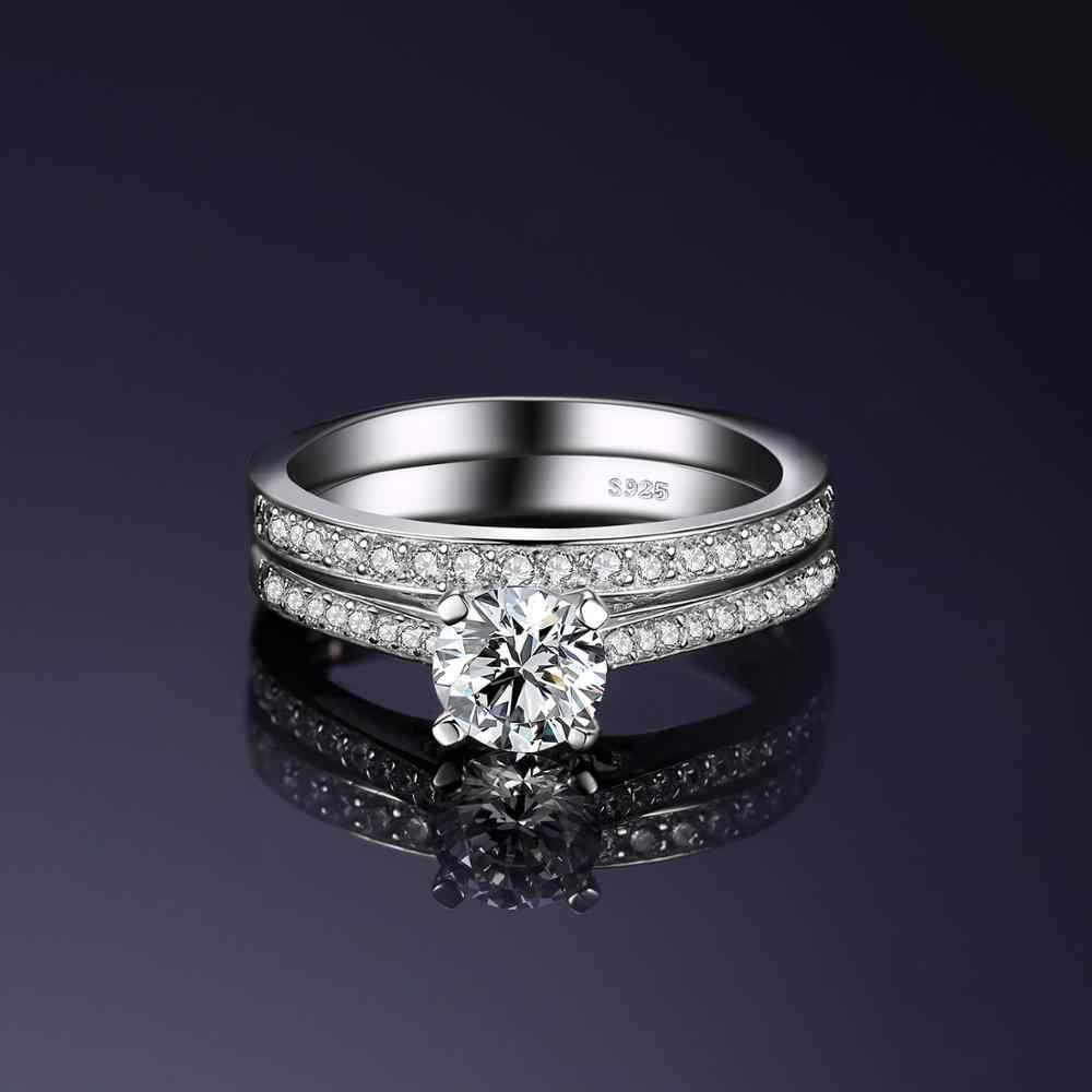 JewelryPalace 1.3ct кубического циркония Юбилей обручальное Обручение пасьянс кольцо свадебный 925 пробы Серебряные ювелирные изделия