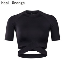 HEAL ORANGE Women Yoga Shirts Sexy Sports Top Style Fitness Crop Solid  Running Shirt Sport Gym Clothes Tank Tops Sportswear