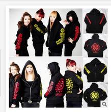2ne1 sweatshirt 2016 KPOP Fleece Clothing Hoodies jacket Coats With Zipper CL Bom Dara Minzy cl k-pop 2ne1 Casual tops garment