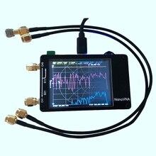 Para o analisador de rede do vetor de nanovna tela da imprensa hf vhf uhf uv 50khz 900mhz analisador de antena carregável