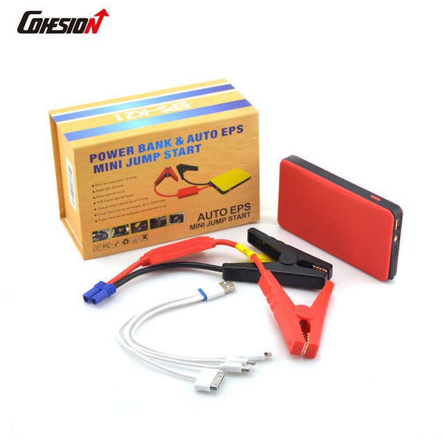 high quality battery power booster jump starter multi function car-charger with 6000mAh