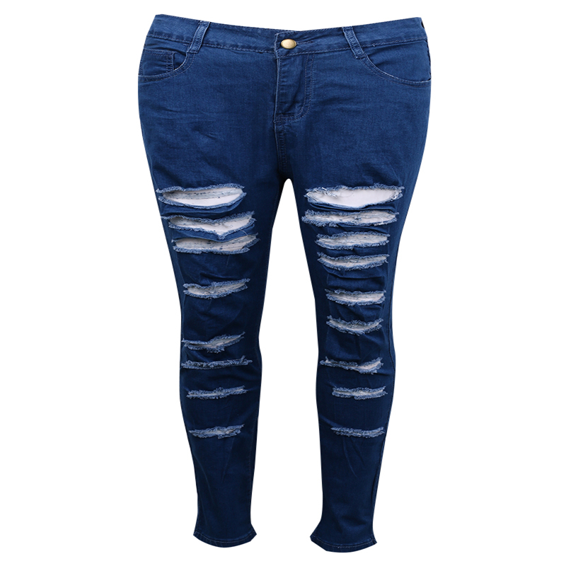 2017 New Fashion Pencil Pants Hole jeans woman skinny ripped jeans for women vaqueros mujer boyfriend jean denim pants pantalon zbaiyh 2017 summer fashion high waist jeans women ripped jean retro boyfriend femme vaqueros mujer plus size jeans denim pants