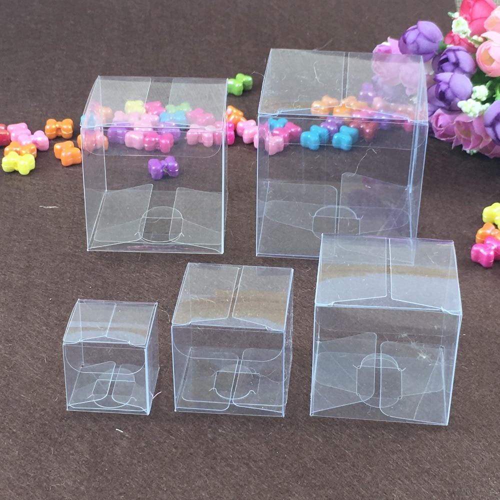 50pcs Lot Square Plastic Clear Pvc Boxes Transparent
