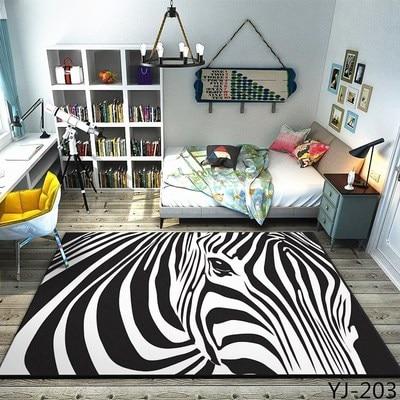 Salon table basse tapis peluche chambre complet chevet couverture rectangulaire simple moderne tapis haut de gamme épais corail polaire tapis - 4