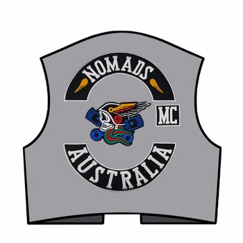 Iron On Patches Custom | Free Shipping NOMADS AUSTRALIA Custom Sew Iron On Biker Patches Motorcycle Vest Jacket Embroidery Patches
