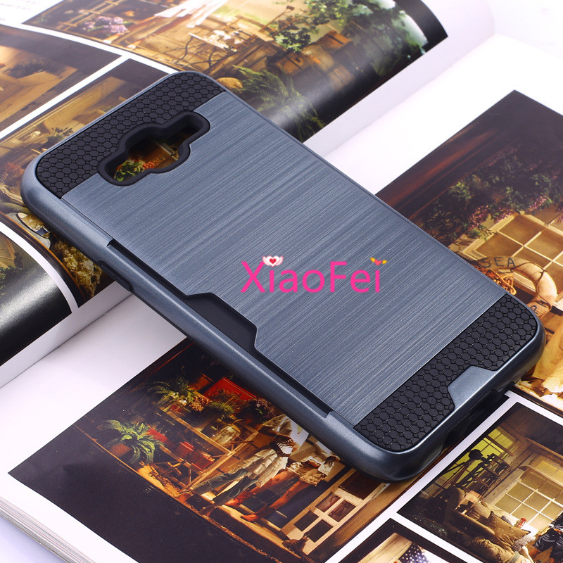 silm tough Armor Case For samsun galaxy J7 J700 phone casesUltra thin Aluminum MetalWireBack Cover For Galaxy J7 case galaxi