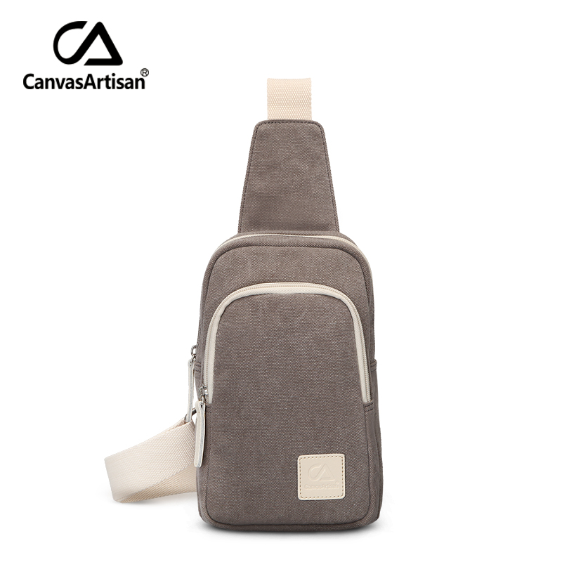 Canvasartisan brand new canvas unisex chest bag men and women crossbody messenger bag for teenager couples shoulder travel bags 2017 new unisex men messenger bag chest pack brand design korean and japan style simple women shoulder cross body bags for ipad