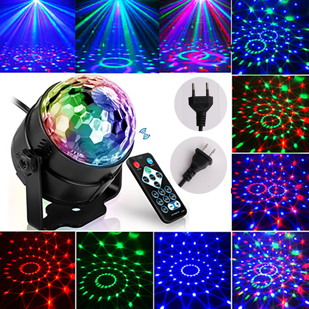Disco Light Party Lights Mini Disco Ball Dj Light RGB Laser Stage Light Led Par KTV Dance Home Holiday Christmas Wedding EU Plug