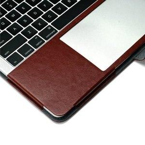 Image 4 - Nowe etui na laptopa do Apple Macbook Air Pro Retina 11 12 13 15 cali z dotykowym paskiem PU skórzane etui z twardą okładką