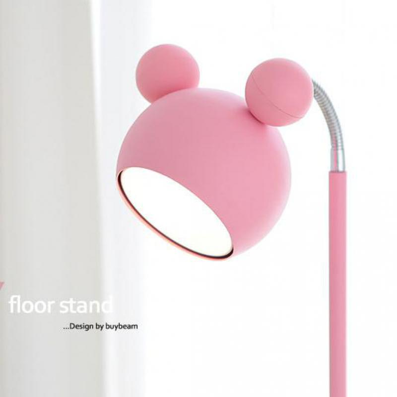 Japanese style Pink floor standing Lamp Tall Piano Light Kids LED ...