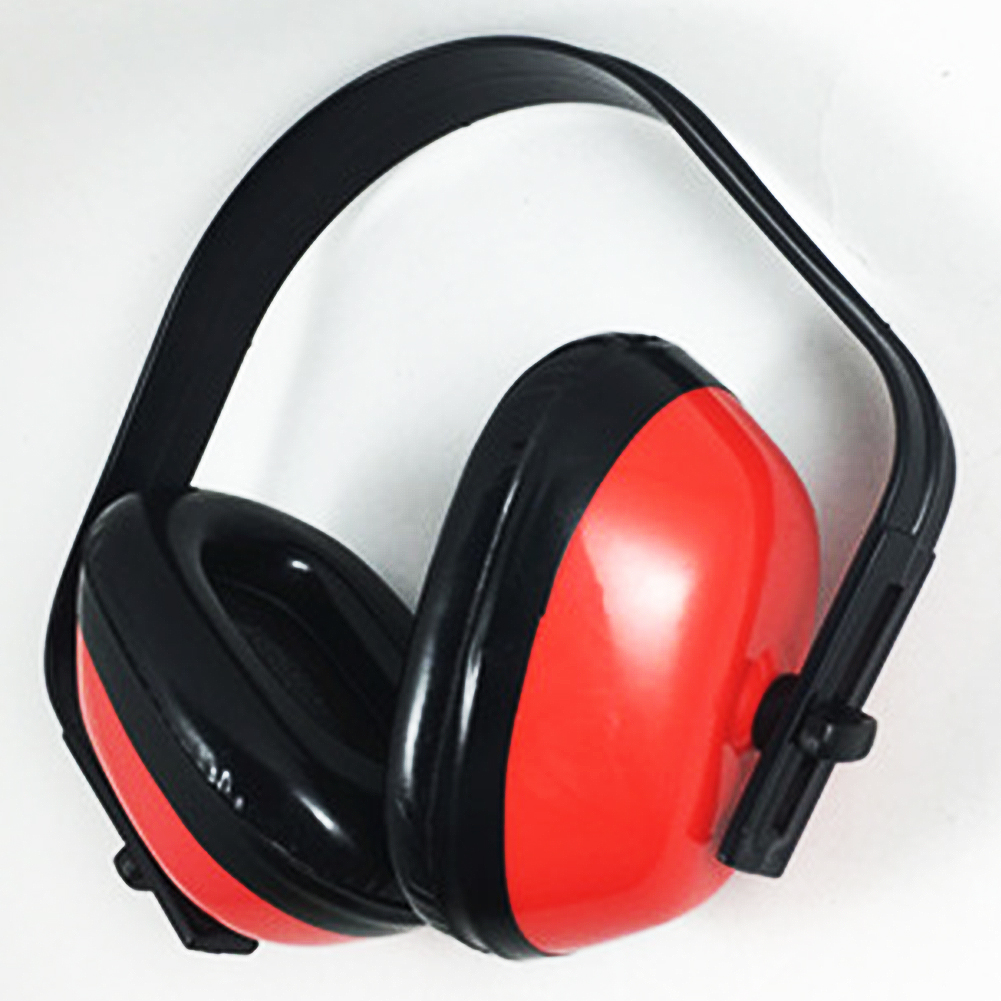 Plastic Hearing Protection Noise Reduction Soundproof Earmuffs Safety Supplies Headphones Anti-shock Red Ear Protector Shc-5815