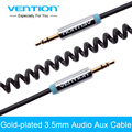 Vention Stereo Audio Cable Gold Plated 3.5mm Spring Auxiliary AUX Cable For Car Cellphone Computer Headphone
