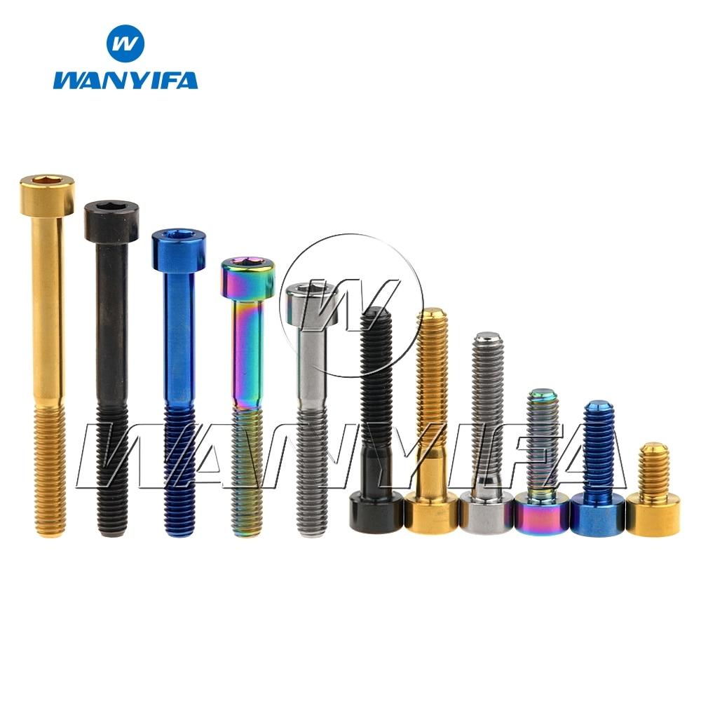 4pcs M6 x10//15//20//25//30//35//40//55mm Titanium Flat Head Bolts Countersunk Screws
