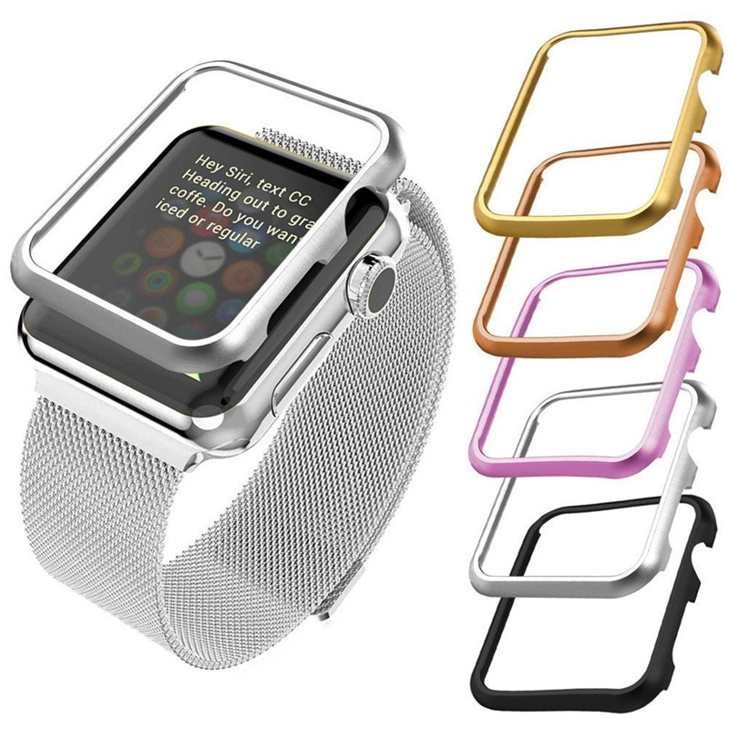 Watches Band Accessories Case Aluminum For Apple iWatch 38mm 42mm All Models Sport Edition Wrist Strap Watch Protective Cases