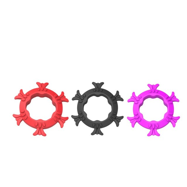 3pcs sex cockring for men cock cage penis ring cock rings silicon Adult  Male chastity belt sex toys anneau penis color random