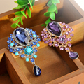 Moda Acrílico Cristal Rhinestone Colorido Broche de Flor Broches Bouquet Broche Para As Mulheres Se Vestem Frete grátis Decorativo