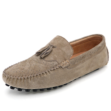 Men Tassel Loafer classic with uncompromising look Durability and comfort leather casual shoe flat