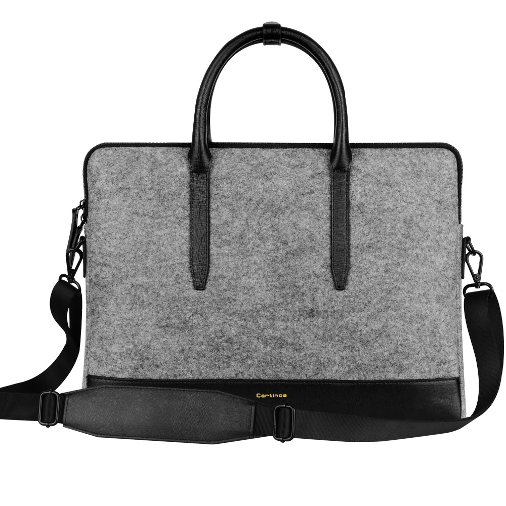Cartinoe 11 13 15 inch Laptop Shoulder Bag Men Women Messenger bag Lady Wool Felt Handbag Carrying Case Computer Sleeve Bag