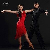 Latin Dance Dress Women CHEAPEST D0304 Salsa Dance Wear Lyrical Dance Costumes with Tassels 2 Colors