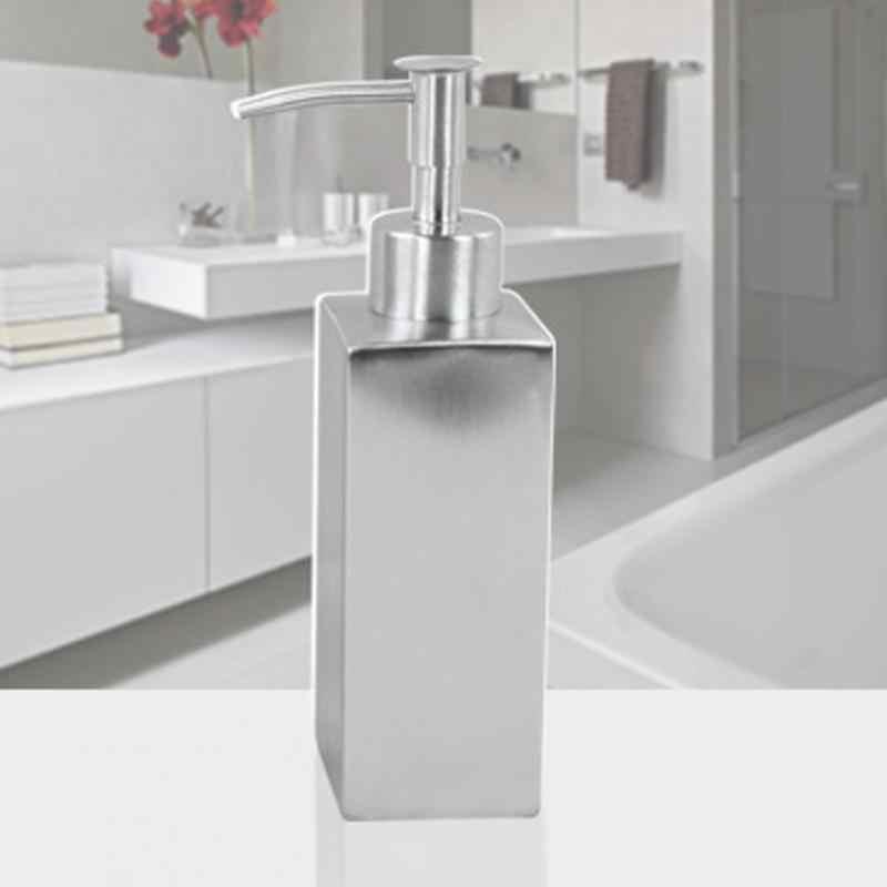 Yeni pompa 6 çeşit paslanmaz çelik sabun pompası sıvı losyon dispenseri yedek kavanoz tüp banyo